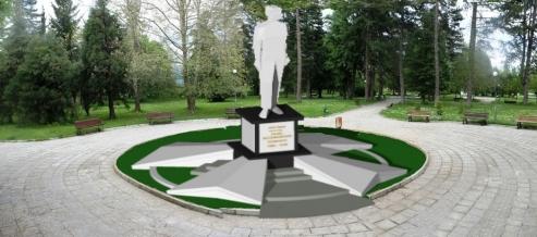 Визуализация на идеа за паметник на Велик княз Павел Александрович.  (арх. Венцислав Йочколовски) Публикувано в Pavelbanya.eu