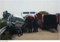Мъж от Павел баня загина, а синът му е вън от опасност за живота при катастрофа на магистрала 'Тракия'. Снимка - БГНЕС.Публикувано в Pavelbanya.eu