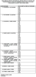 Разписание на автобусите в община Павел баня