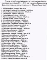 31 студенти от Павел баня ще получат  по 400 лв. стипендия